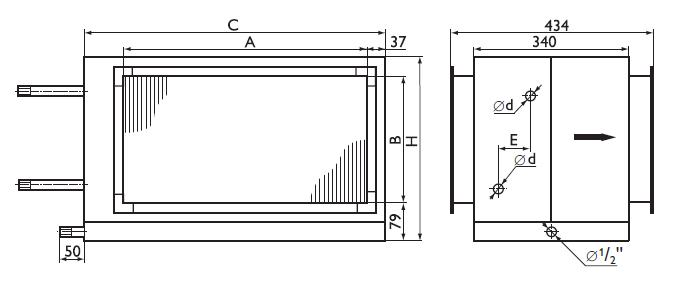 Размеры на водяные охладители Арктос PBAR