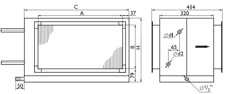 Размеры на фреоновые охладители Арктос PBED