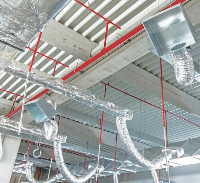 Монтаж гибкого теплоизолированного воздуховода