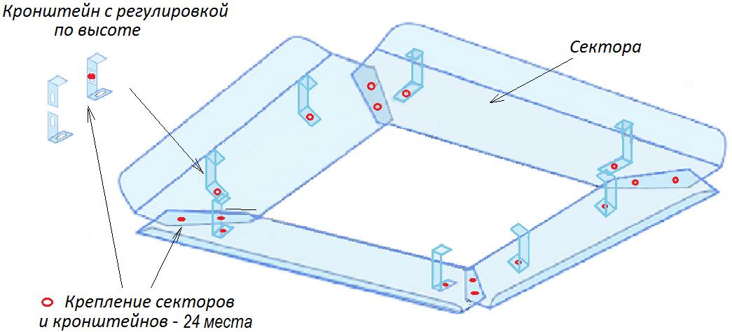 Конструкция экрана для потолочного кондиционера