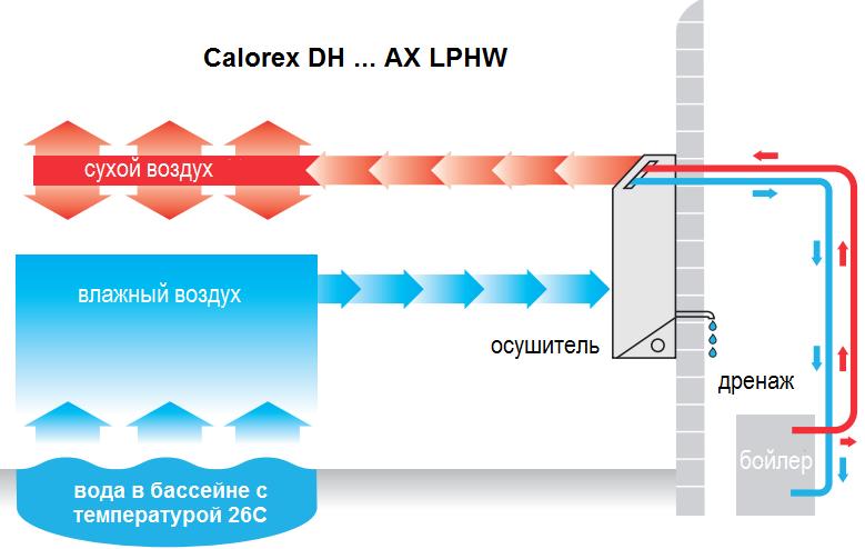 особенности настенного осушителя Calorex DH 33 A LPHW