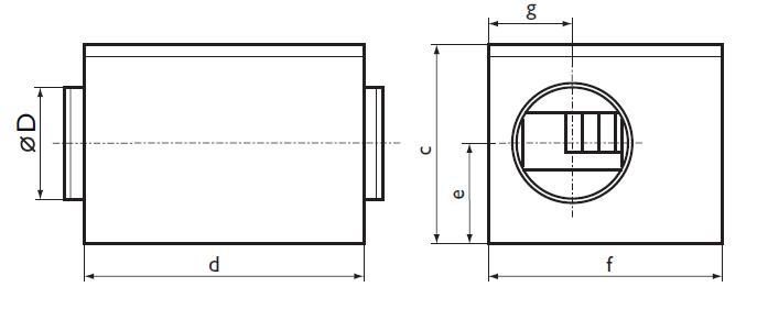 Размеры шумоизолированного вентилятора Ostberg IRE 500
