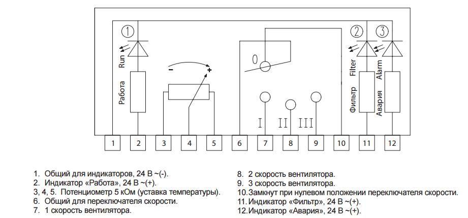 Схема подключения пульта RCU-31