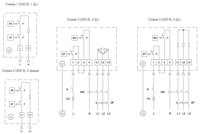 Схема подключения электрических нагревателей Shuft серии EHC