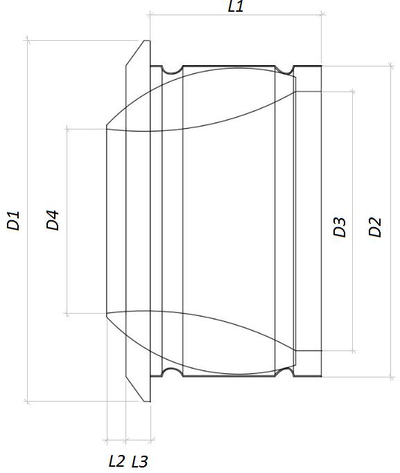Размеры на сопловый диффузор