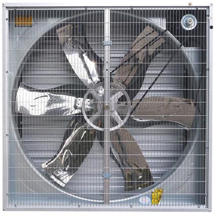вытяжной осевой вентилятор с жалюзи