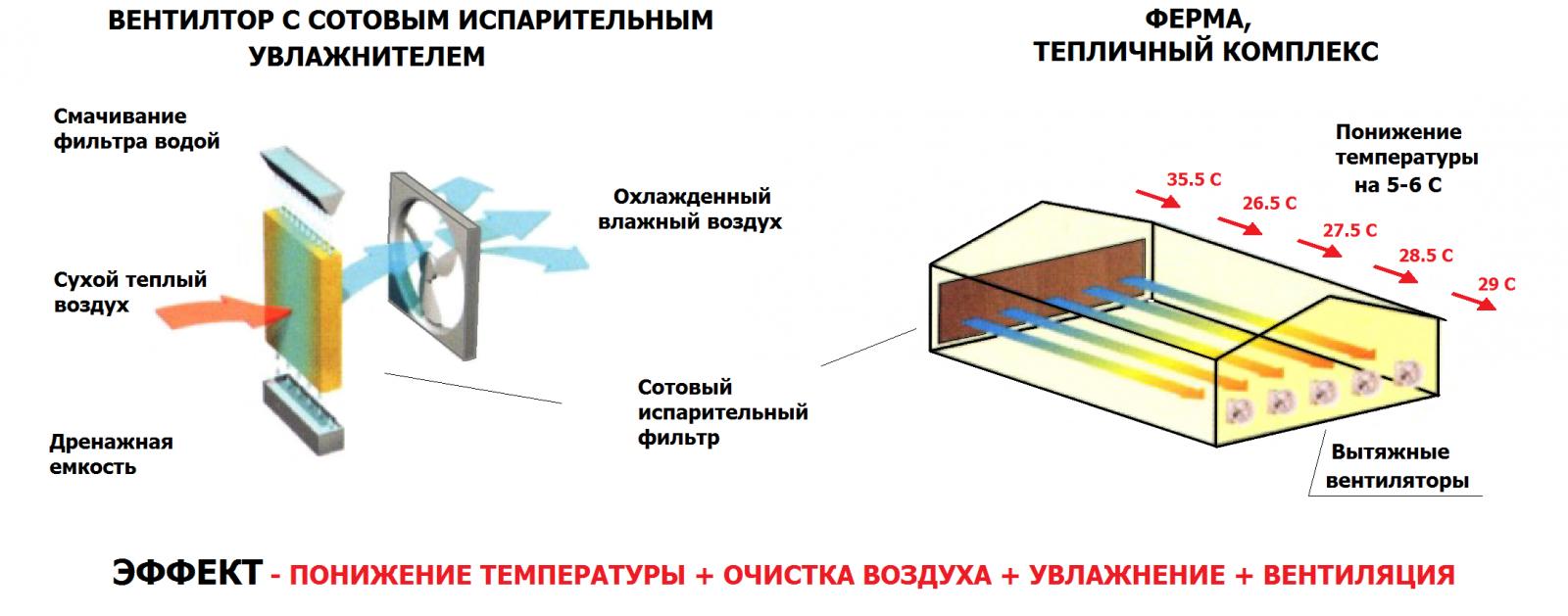 эффективный вытяжной осевой вентилятор для теплиц и ферм