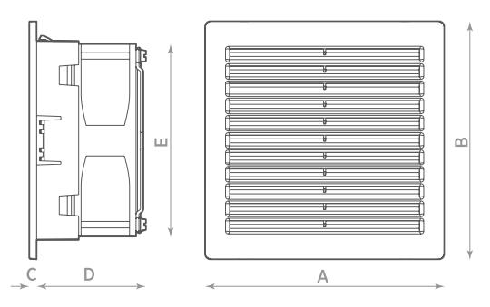 Монтажные размеры O.Erre Systema RCQ 160.25