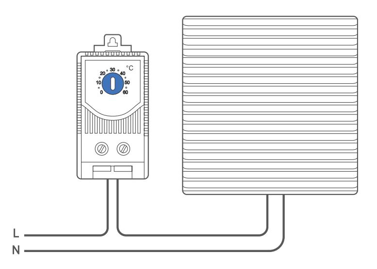 Подключение регулятора температуры O.Erre TM NO