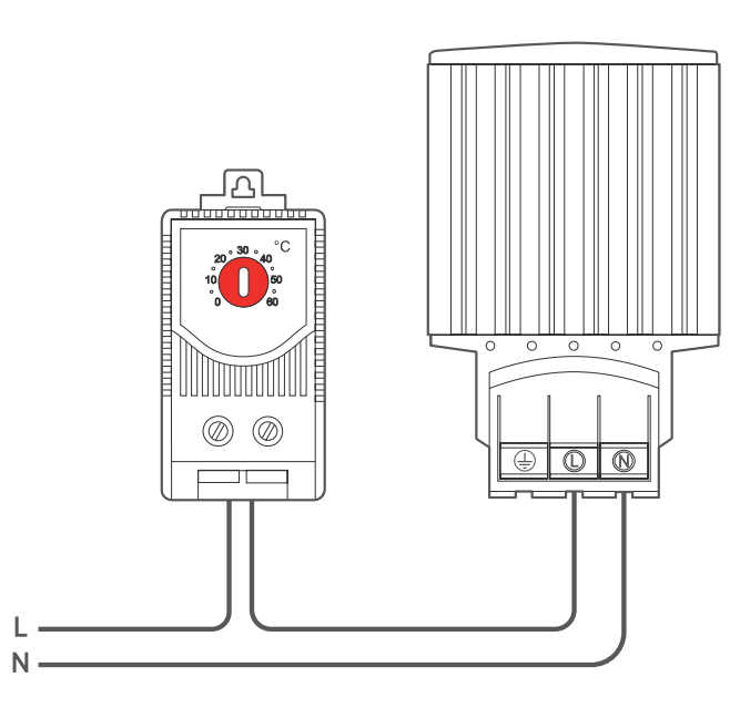 Подключение регулятора температуры O.Erre TM NC