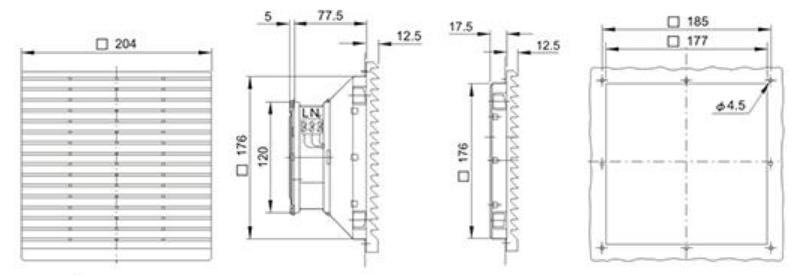 Монтажные размеры на решетку Wa-Co 323-300