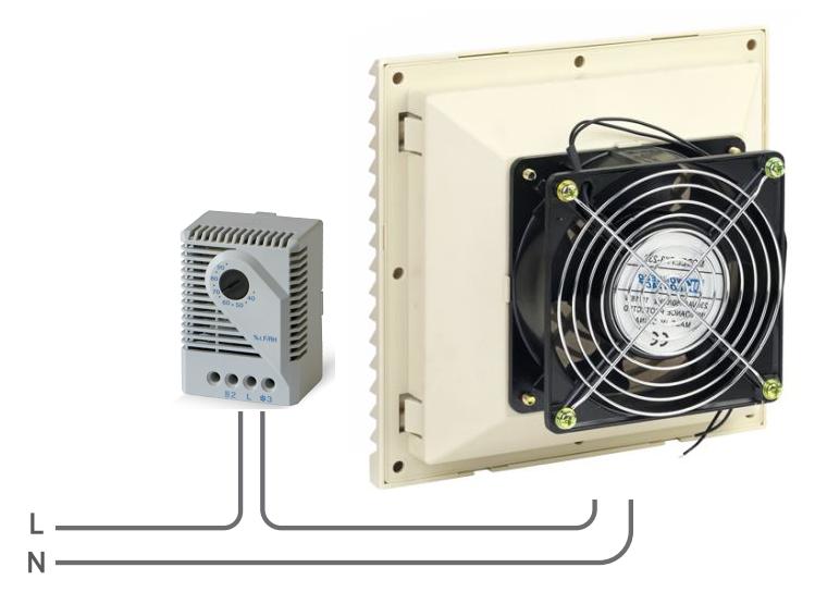 Схема подключения гигрометра к серверному вентилятору