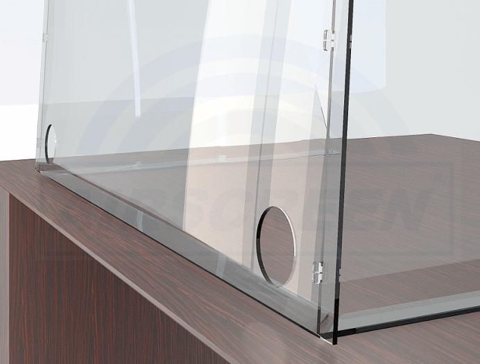 Защитный экран на стол из прозрачного пластика