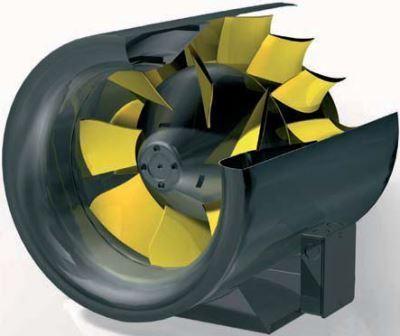 канальный круглый вентилятор с EC-мотором